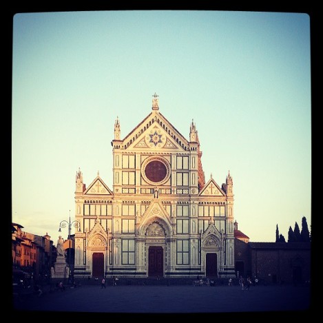 This is the beautiful Santa Croce. I pass by it every day walking to and from my apartment to the Library.